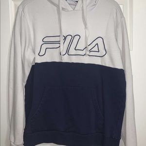 Fila Two-Tone Spellout Hoodie